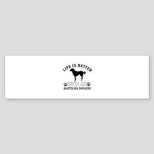 Anatolian Shepherd vector designs Sticker (Bumper)