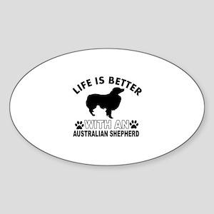 Australian Shepherd vector designs Sticker (Oval)