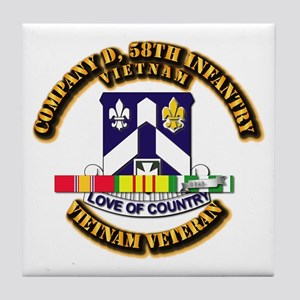Army - Company D, 58th Infantry w SVC Ribbons Tile