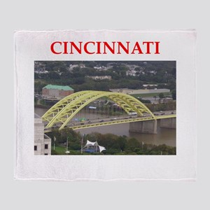 cincinnati Throw Blanket