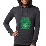 California Green Man Womens Hooded Shirt