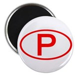 Portugal - P Oval Magnet