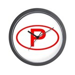 Portugal - P Oval Wall Clock