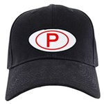 Portugal - P Oval Black Cap