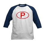 Portugal - P Oval Kids Baseball Jersey