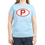 Portugal - P Oval Women's Pink T-Shirt