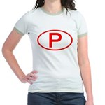 Portugal - P Oval Jr. Ringer T-Shirt