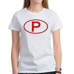 Portugal - P Oval Women's T-Shirt