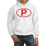 Portugal - P Oval Hooded Sweatshirt