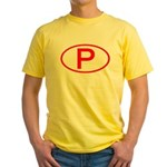 Portugal - P Oval Yellow T-Shirt