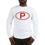 Portugal - P Oval Long Sleeve T-Shirt
