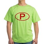 Portugal - P Oval Green T-Shirt