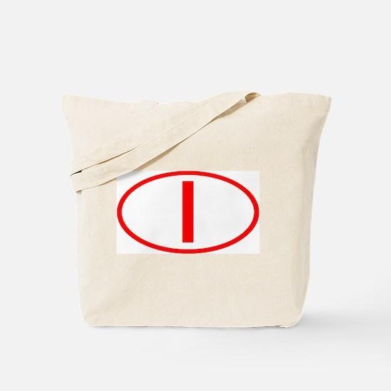 Italy - I Oval Tote Bag