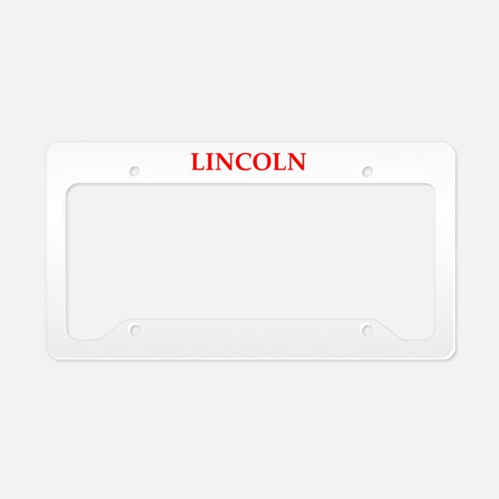 Magnificent Lincoln License Plate Frames Illustration - Custom ...