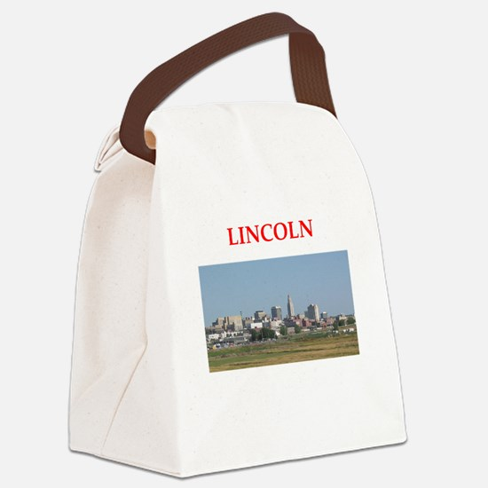 lincoln Canvas Lunch Bag
