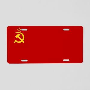 USSR National Flag Aluminum License Plate