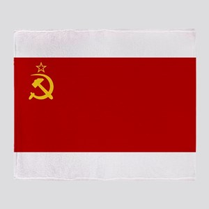 USSR National Flag Throw Blanket