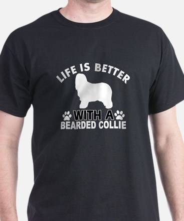 Bearded Collie vector designs T-Shirt