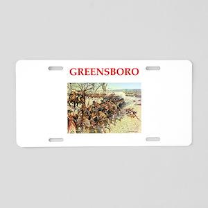 greensboro Aluminum License Plate