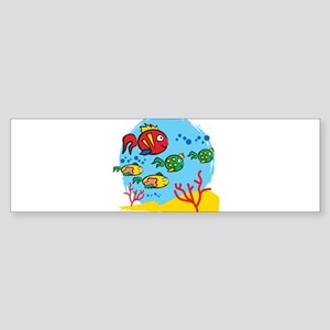 FISH AQUARIUM Sticker (Bumper)