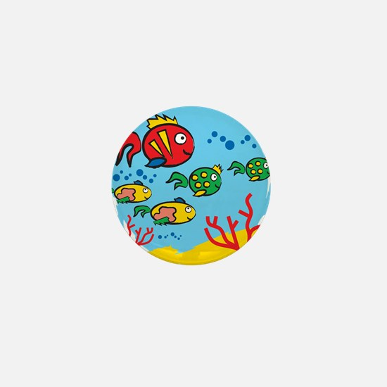 FISH AQUARIUM Mini Button