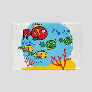 FISH AQUARIUM Rectangle Magnet