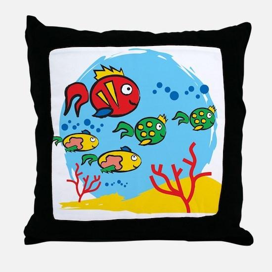 FISH AQUARIUM Throw Pillow