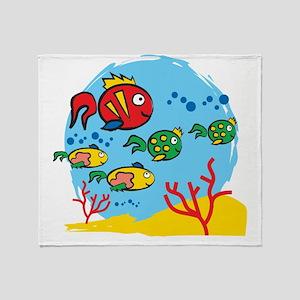 FISH AQUARIUM Throw Blanket