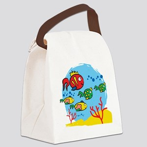 FISH AQUARIUM Canvas Lunch Bag