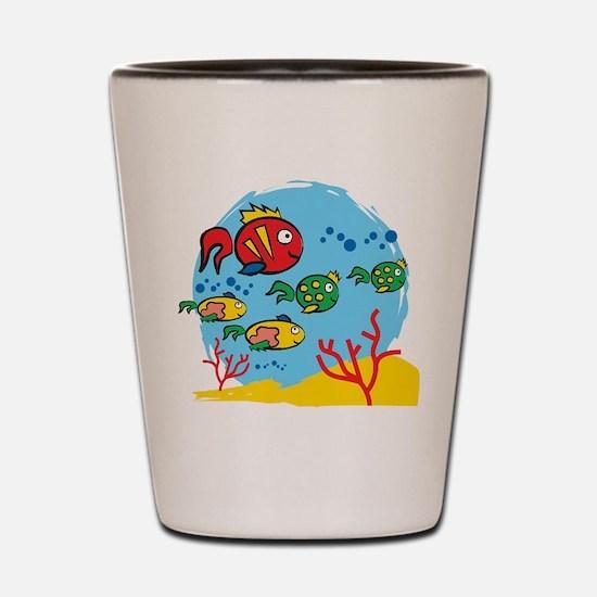 FISH AQUARIUM Shot Glass