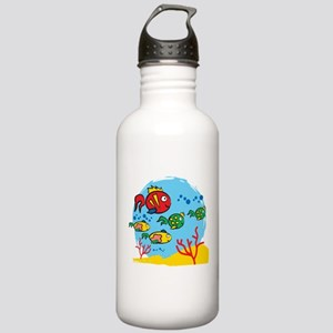 FISH AQUARIUM Stainless Water Bottle 1.0L