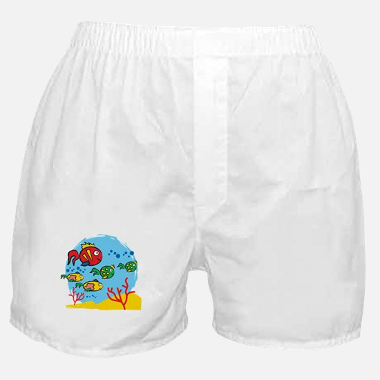 FISH AQUARIUM Boxer Shorts
