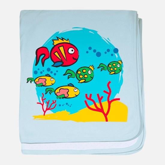 FISH AQUARIUM baby blanket