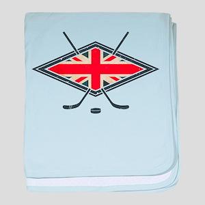 British Ice Hockey Flag baby blanket