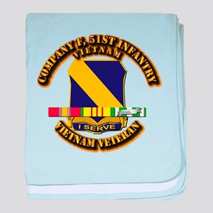 Army - Company F, 51st Infantry w SVC Ribbons baby