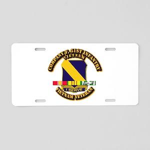 Army - Company F, 51st Infantry w SVC Ribbons Alum