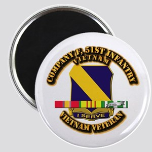 Army - Company F, 51st Infantry w SVC Ribbons Magn