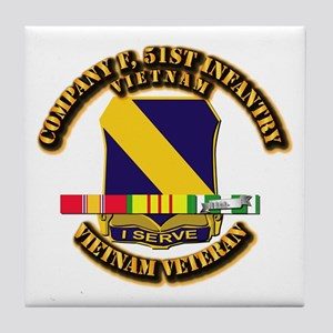 Army - Company F, 51st Infantry w SVC Ribbons Tile