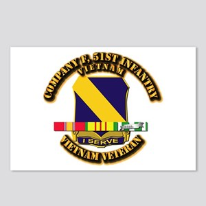 Army - Company F, 51st Infantry w SVC Ribbons Post