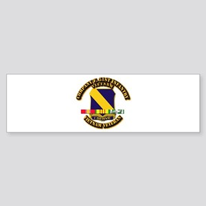 Army - Company F, 51st Infantry w SVC Ribbons Stic