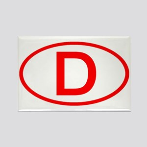 Germany - D Oval Rectangle Magnet