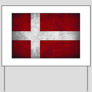 Denmark flag Yard Sign