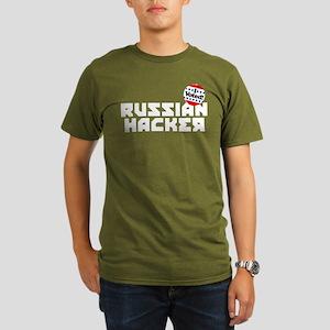 Russian Hacker Organic Men's T-Shirt (dark)