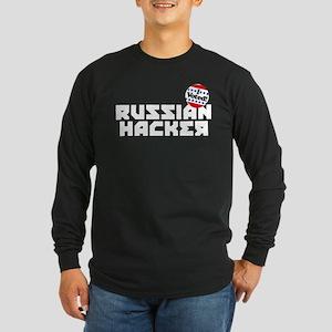 Russian Hacker Long Sleeve Dark T-Shirt