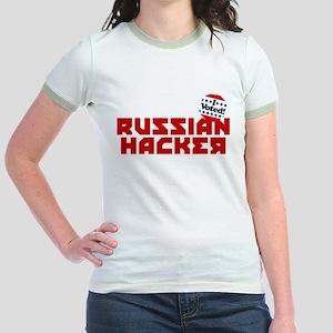 Russian Hacker Jr. Ringer T-Shirt