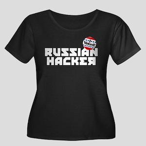Russian Women's Plus Size Scoop Neck Dark T-Shirt