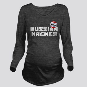 Russian Hacker Long Sleeve Maternity T-Shirt