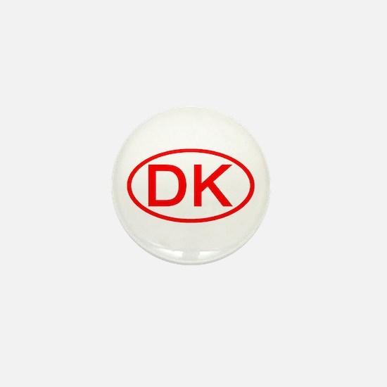 Denmark - DK Oval Mini Button