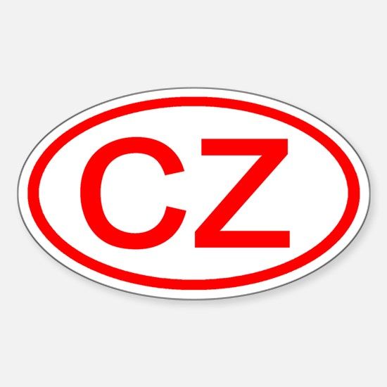 Czech Republic - CZ Oval Oval Decal