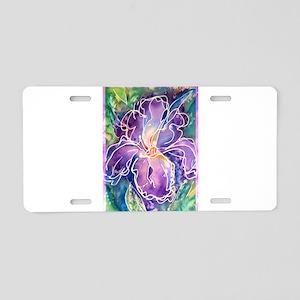 Iris! Beautiful, purple flower, Aluminum License P